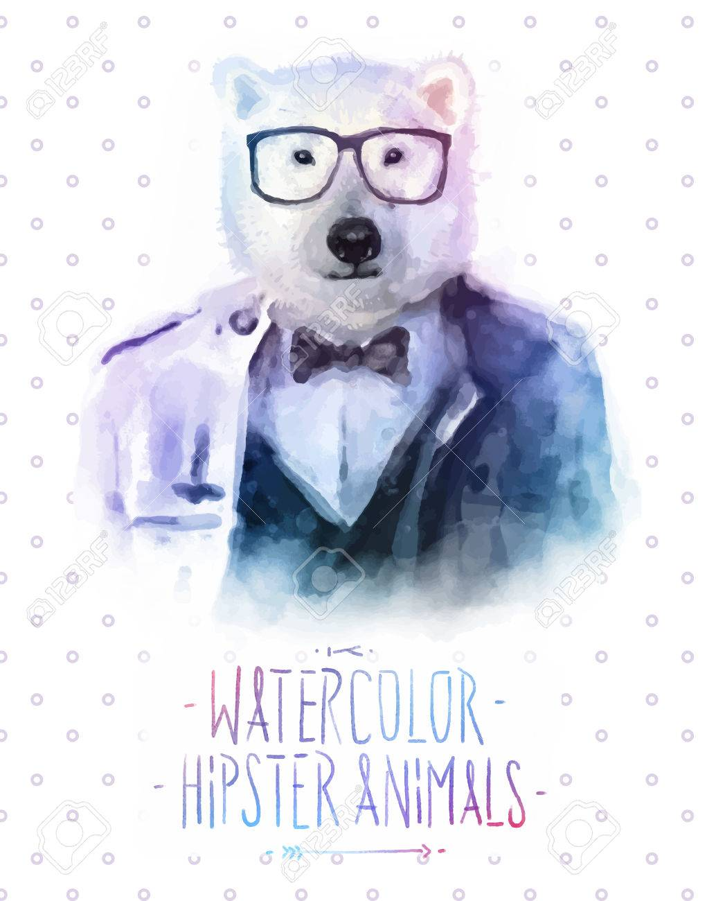Vector illustration of bear portrait in sunglasses and pullover, retro style, hipster look - 40300695