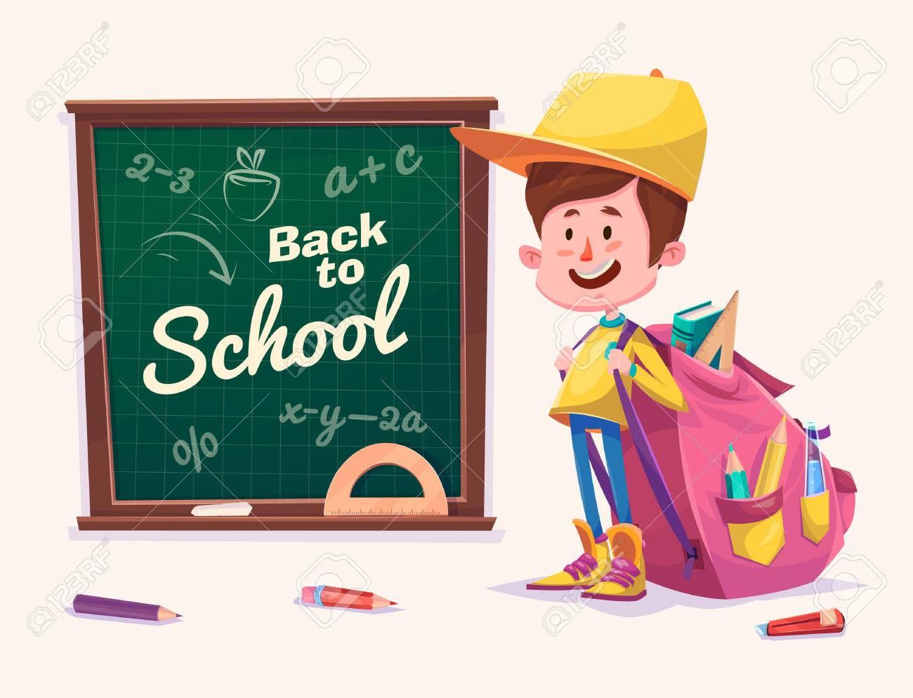 Cute School Children. School Activities. Back To School Isolated ...