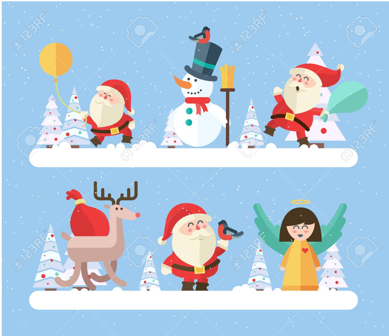 Merry christmas. vector winter background. - 46453271