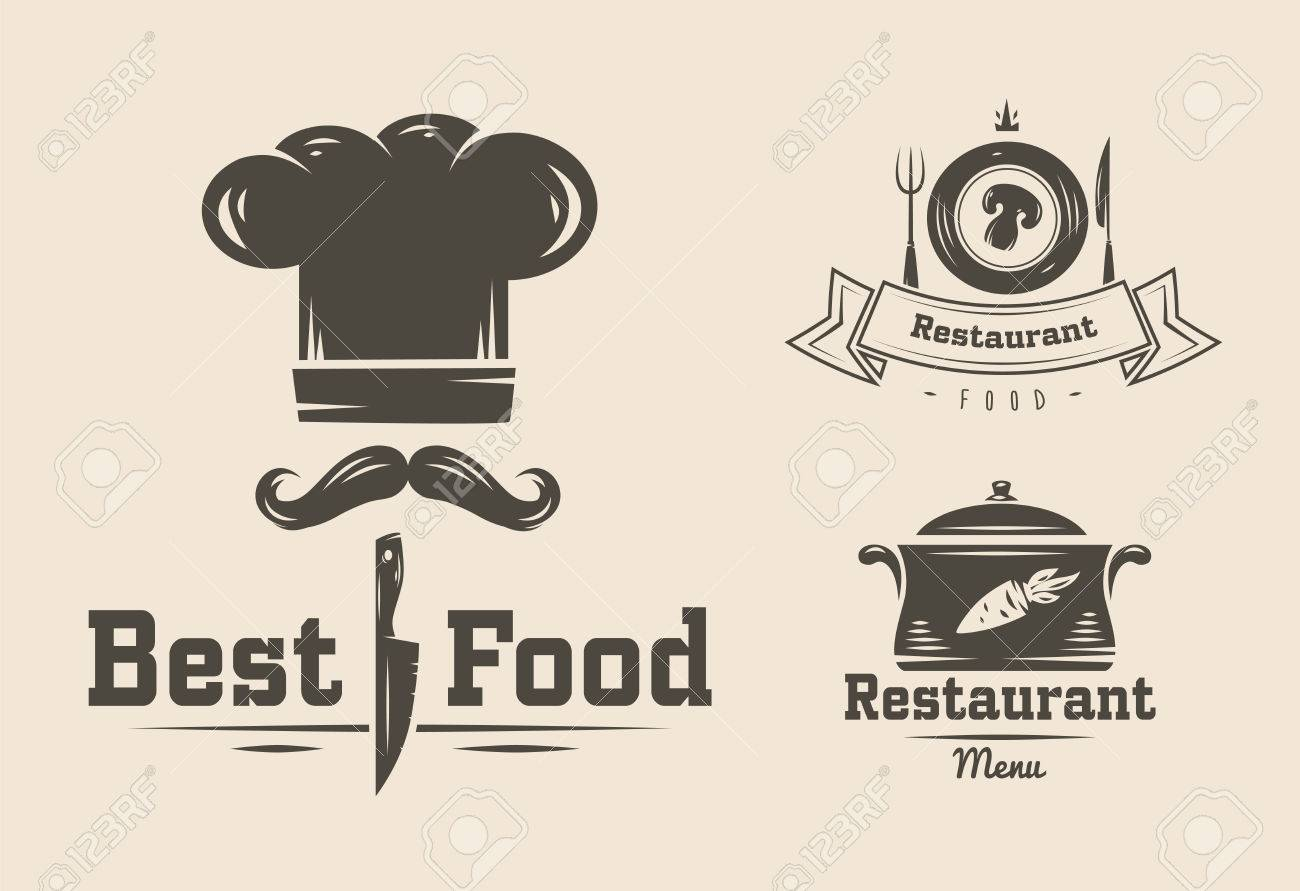 Collection of vintage retro restaurant and cafe logo badges and collection of vintage retro restaurant and cafe logo badges and labels stock vector 47405526 buycottarizona Image collections