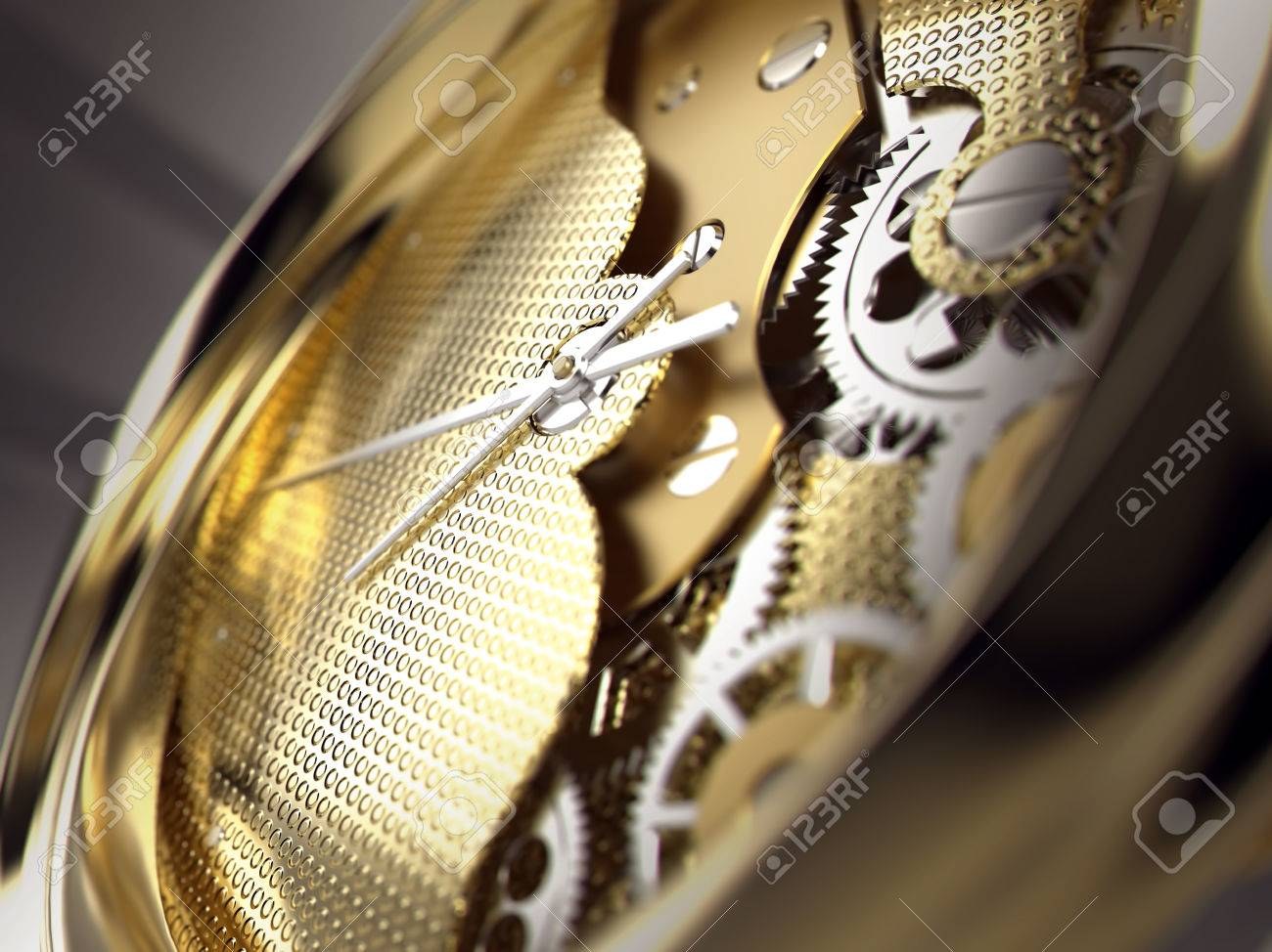 Realista Una 3d Un Industrial Máquina Reloj En Ruedas O El DentadasIlustración Da Engranajes InteriorPrimer Y dthQCsr