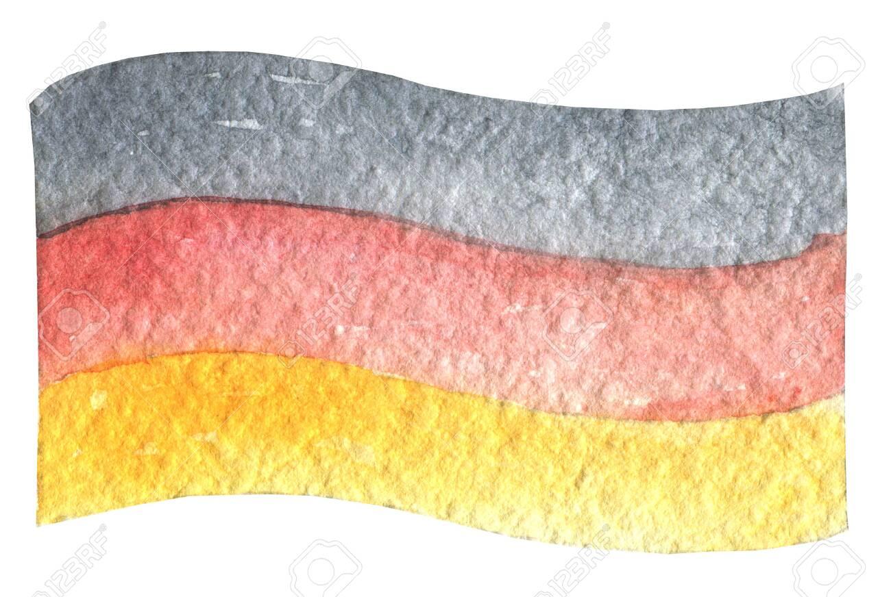 photograph regarding Printable German Flag called Oktoberfest German flag waving inside the wind. Hand drawn watercolor..