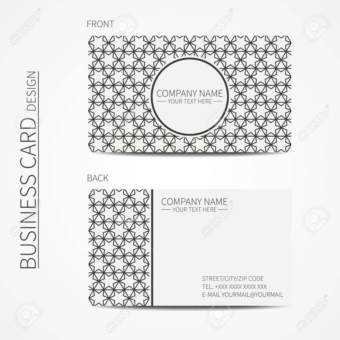 Star gear icon design element with business card template stock.