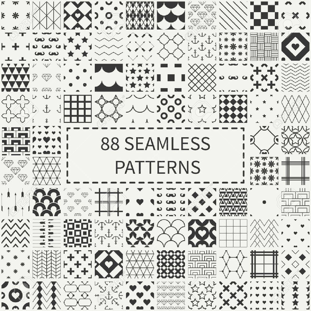 Mega Conjunto De 88 Diferentes Patrones Decorativos Sin Costura ...