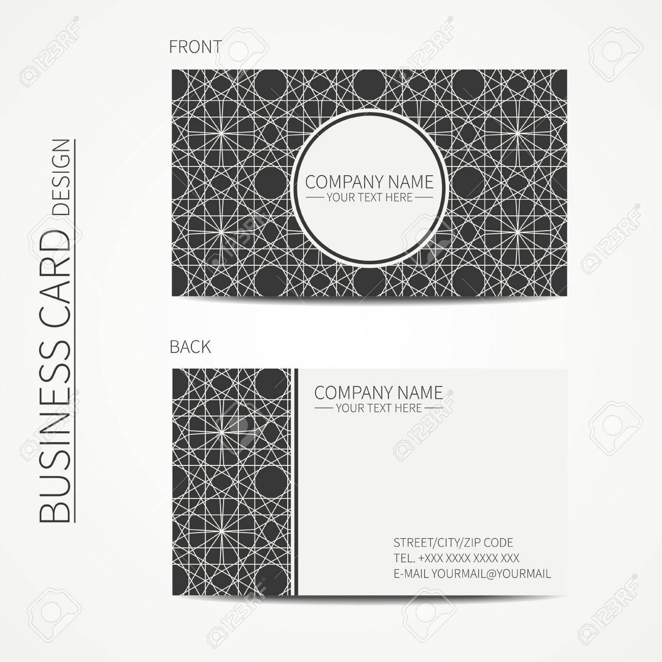 Geometric lattice monochrome business card template for design geometric lattice monochrome business card template for design arabic pattern islamic oriental style reheart Choice Image