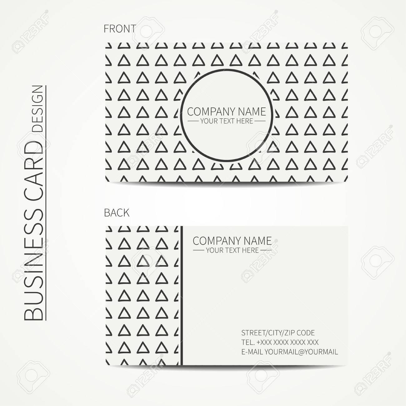 Gomtrique Monochrome Modle De Carte Visite Avec Triangle