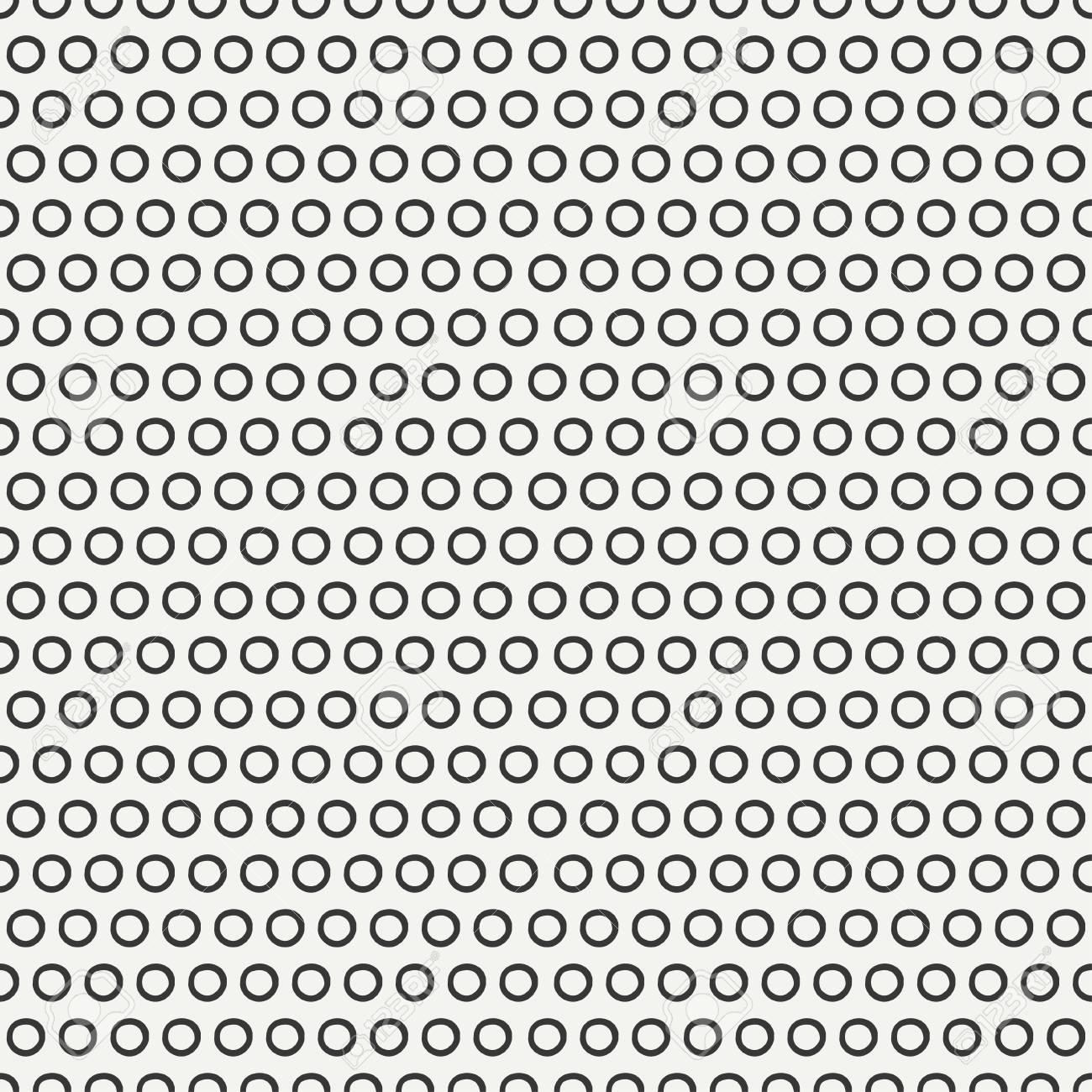 Geometric Abstract Seamless Pattern With Hand Drawn Circles
