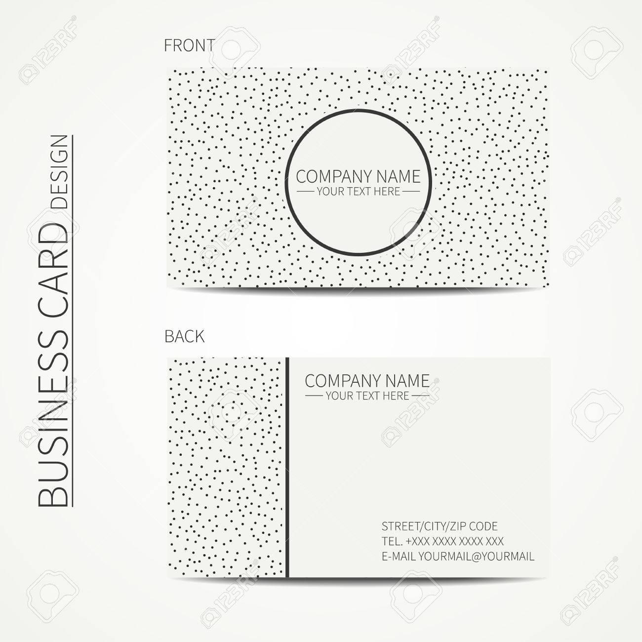 Vector Simple Business Card Design Template Black And White - Simple business card design template