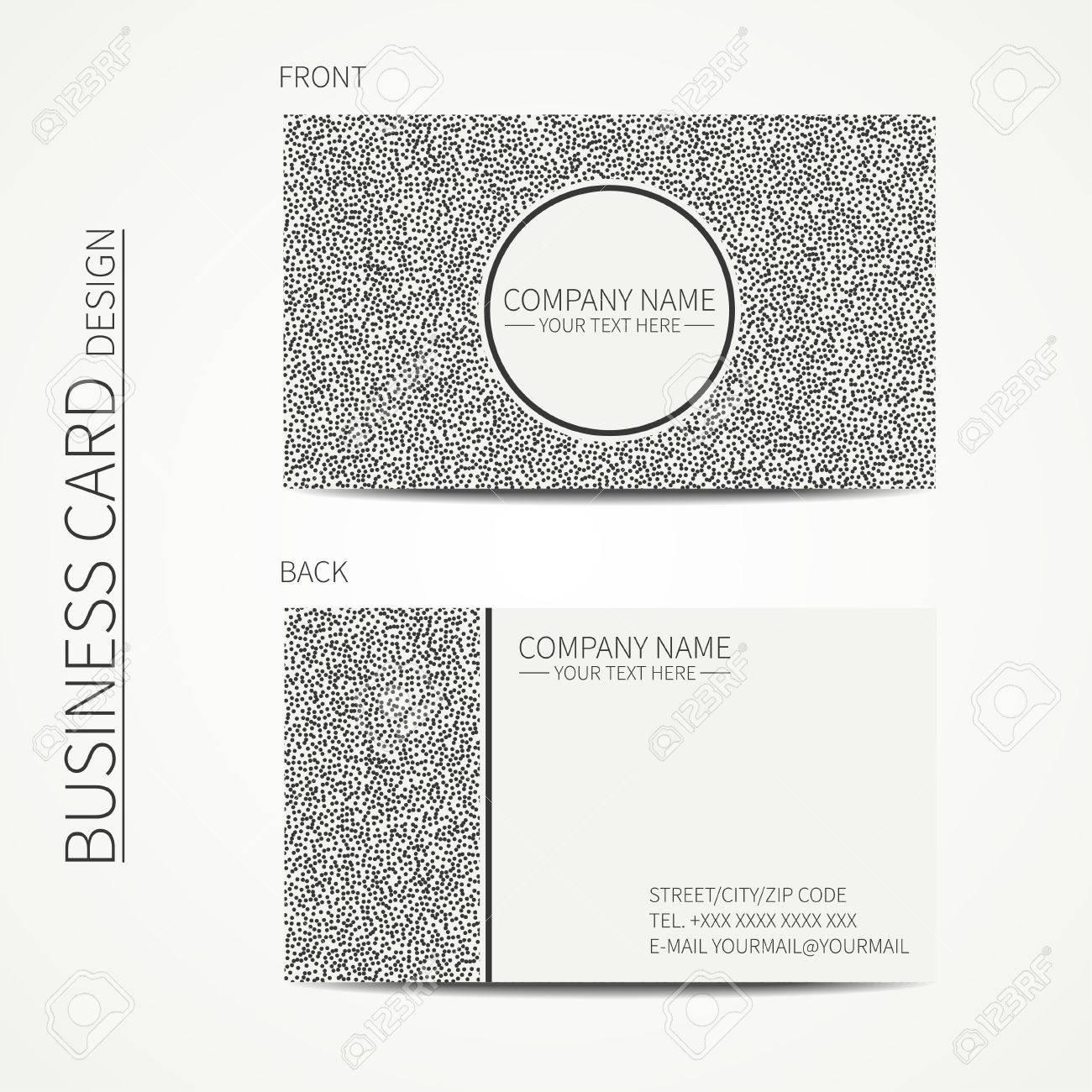Vecteur Simple Carte De Visite Design Modele Noir Et Blanc Carte