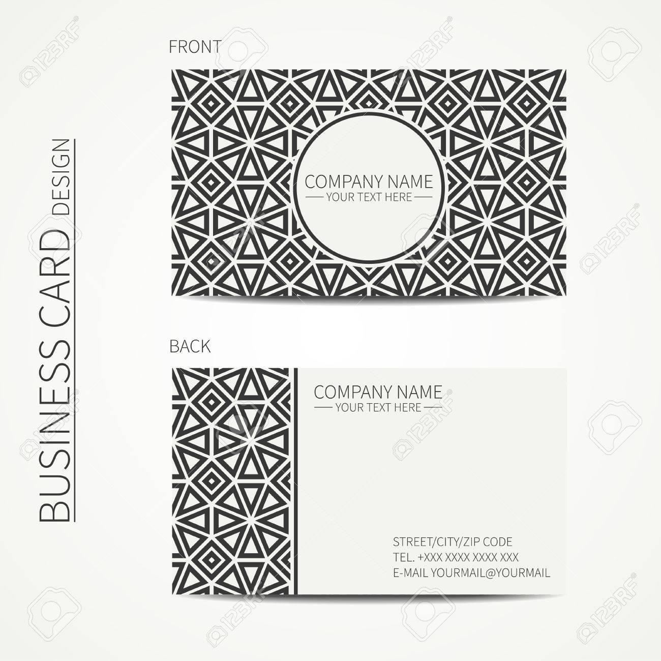 Vecteur Simple Carte De Visite Design Modele Noir Et Blanc