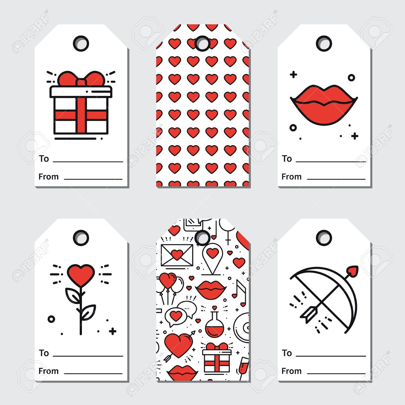 graphic about Valentine's Day Tags Printable known as St Valentines working day reward tags. Printable tags selection. Delight in,..