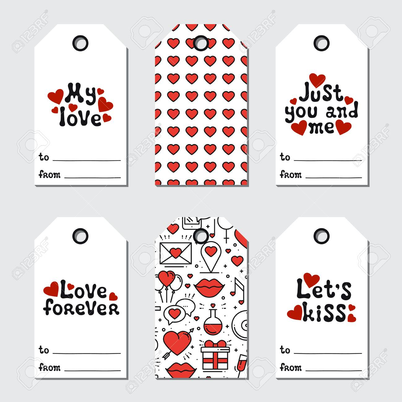 photo relating to Holiday Tags Printable named St Valentines working day reward tags. Printable tags choice. Appreciate,..