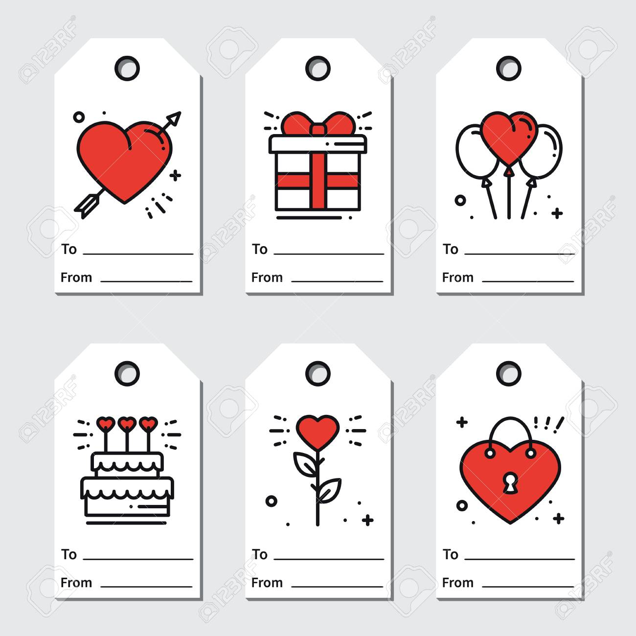 picture relating to Printable Valentine Tag titled St Valentines working day present tags. Printable tags variety. Take pleasure in,..