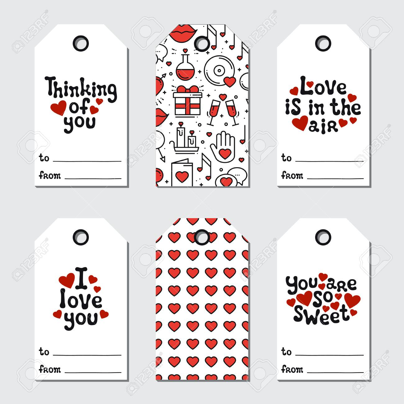 St Valentine S Day Gift Tags Printable Tags Collection Love