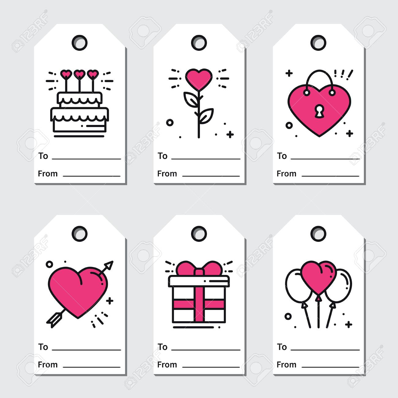 graphic about Valentine's Day Tags Printable called St Valentines working day present tags. Printable tags selection. Delight in,..