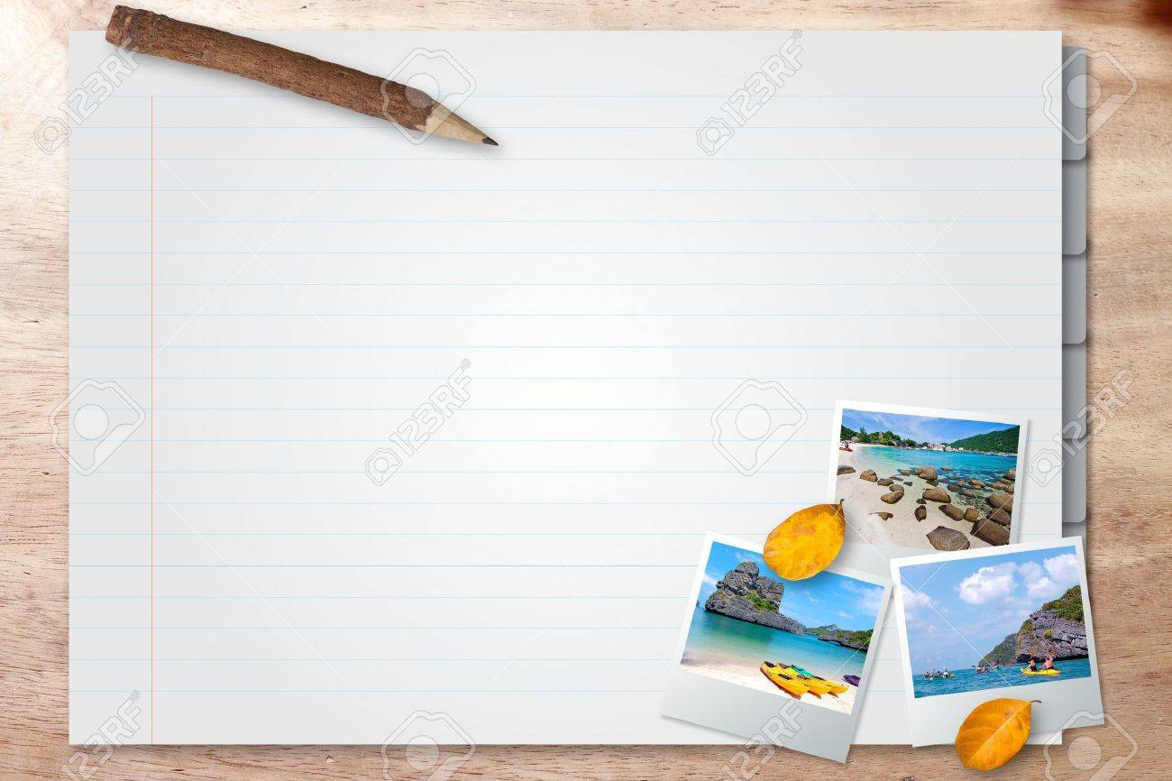 note page with photo frame travel Stock Photo - 13596606