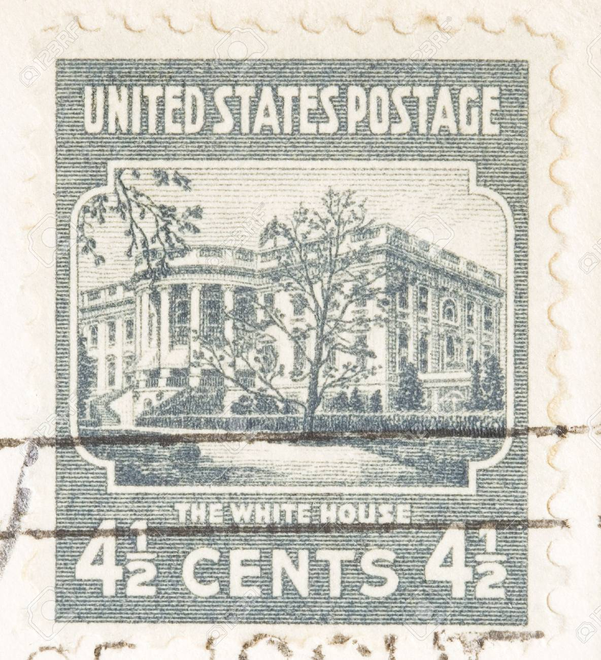 This Is A Vintage 1938 Four And Half Cent White USA Postage Stock