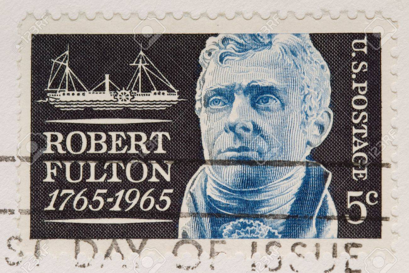 Worksheet Robert Fulton this is a vintage 1964 postage stamp robert fulton stock photo fulton