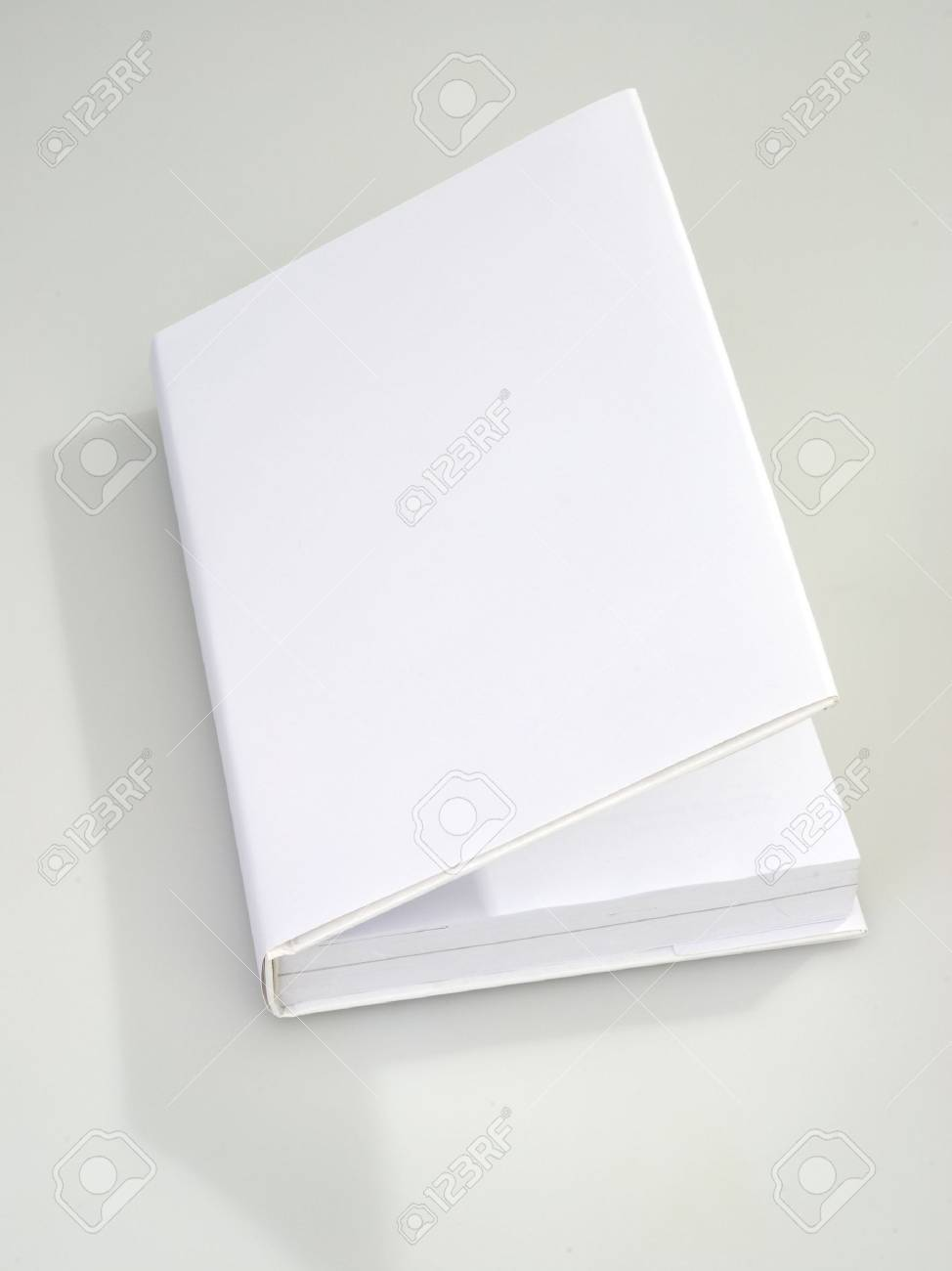 Blank book cover white Stock Photo - 6265435