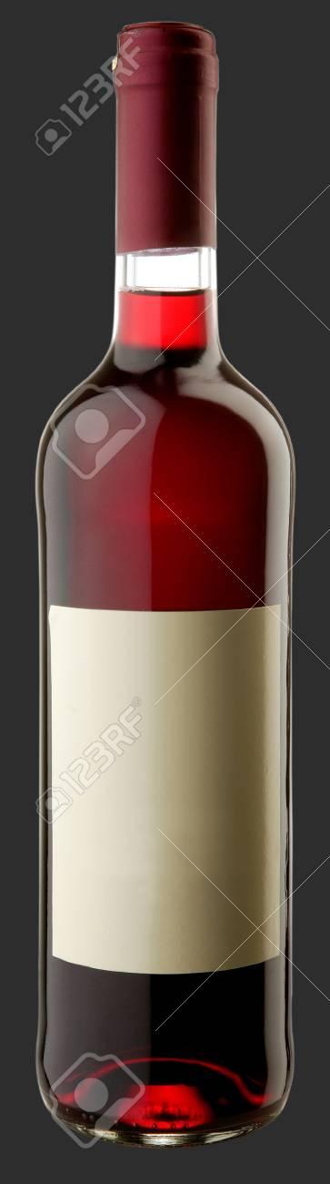 The bottle of red wine w blank sticker Stock Photo - 6265443