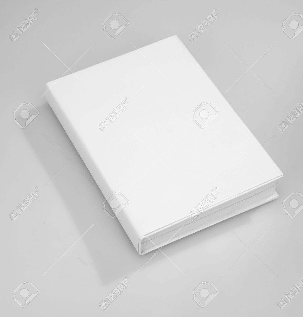 Blank book cover white Stock Photo - 6717140