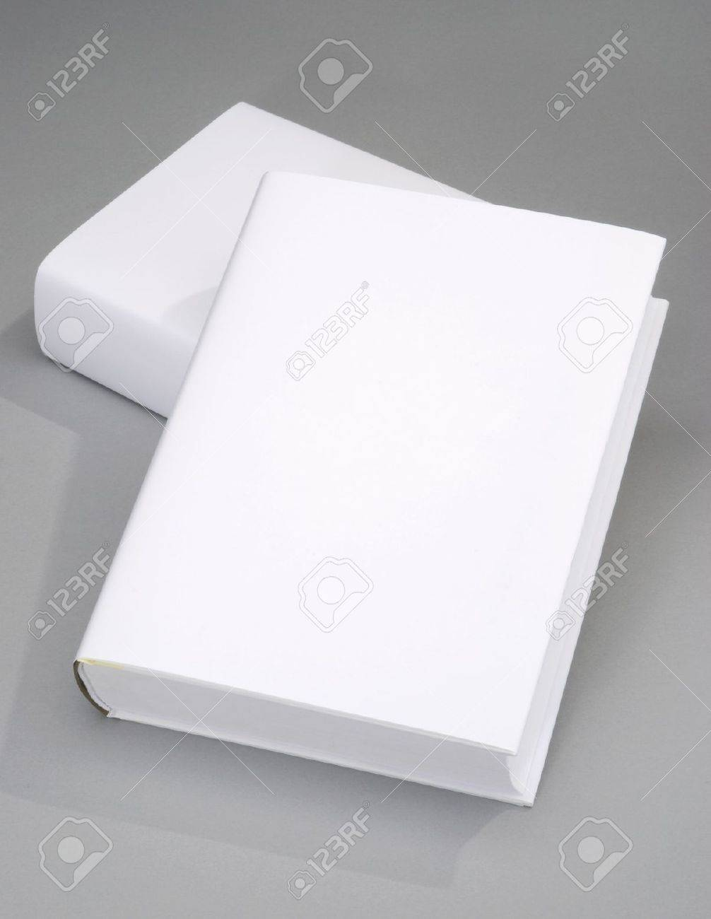 Two thick blank book with white cover Stock Photo - 6717142