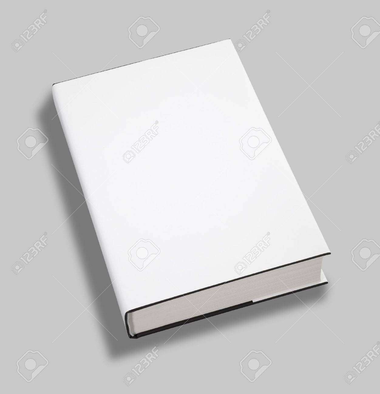 Blank book white cover Stock Photo - 8571238