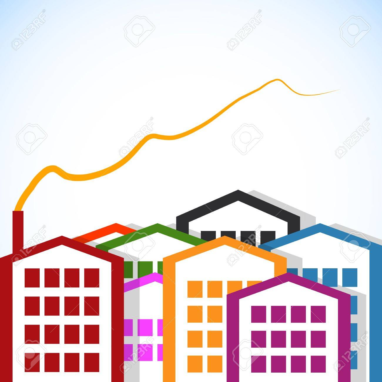 abstract houses Stock Vector - 13467645