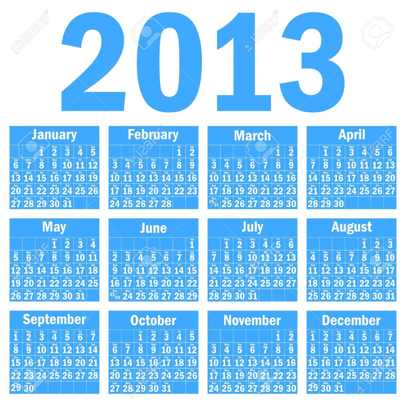 Calendar 2013 Stock Vector - 14447376