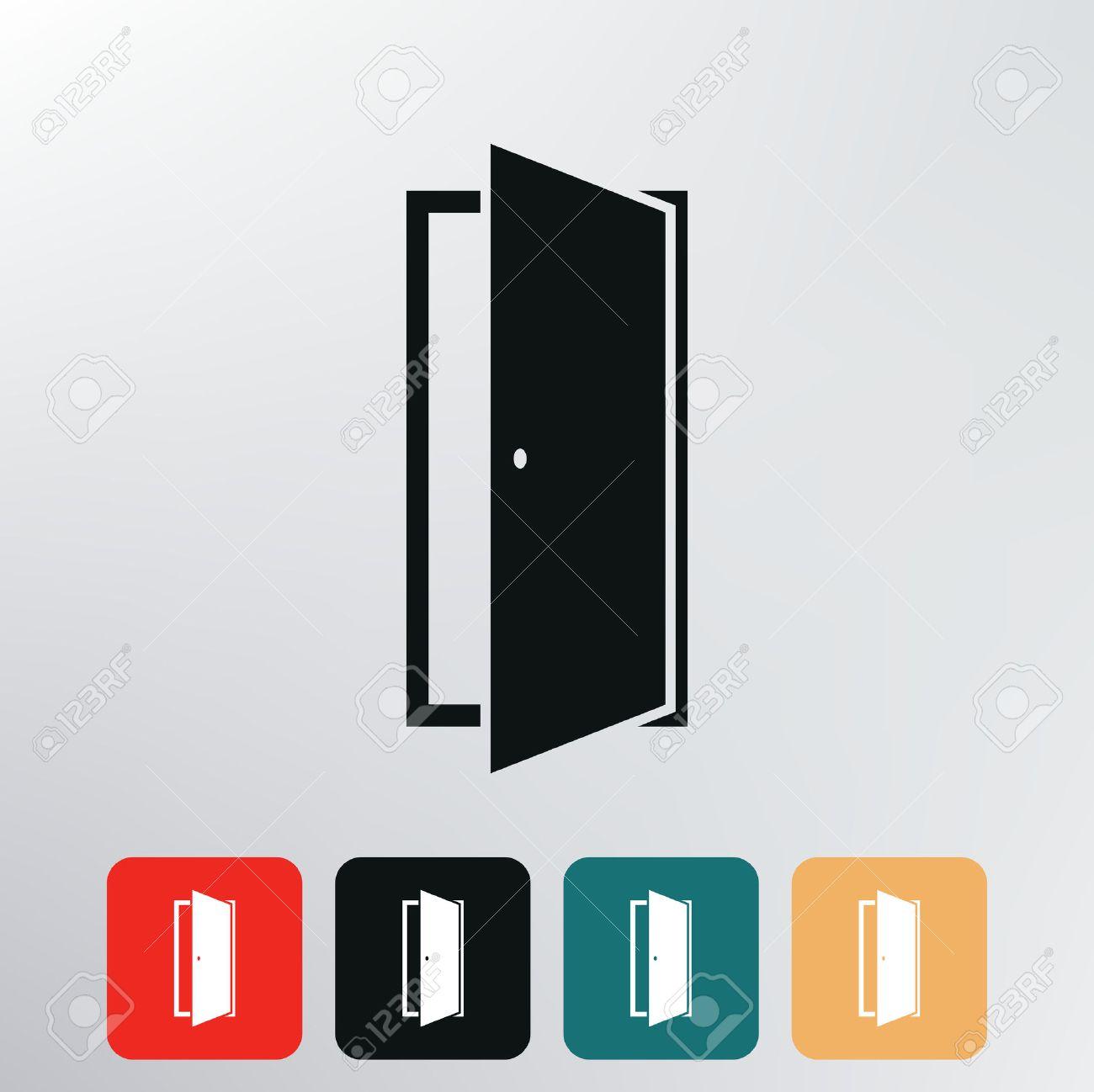 door icon Stock Vector - 29225561  sc 1 st  123RF Stock Photos & Door Icon Royalty Free Cliparts Vectors And Stock Illustration ... pezcame.com