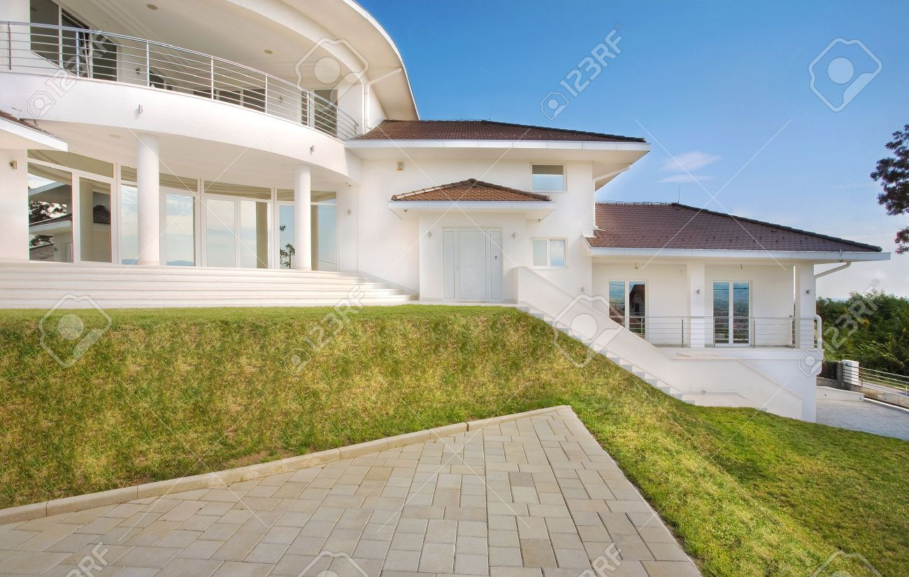 modern house exterior large and expensive house architecture stock photo 8582922