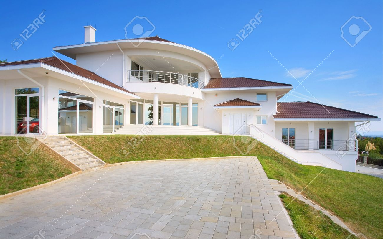 modern house exterior large and expensive house architecture stock photo 8582920