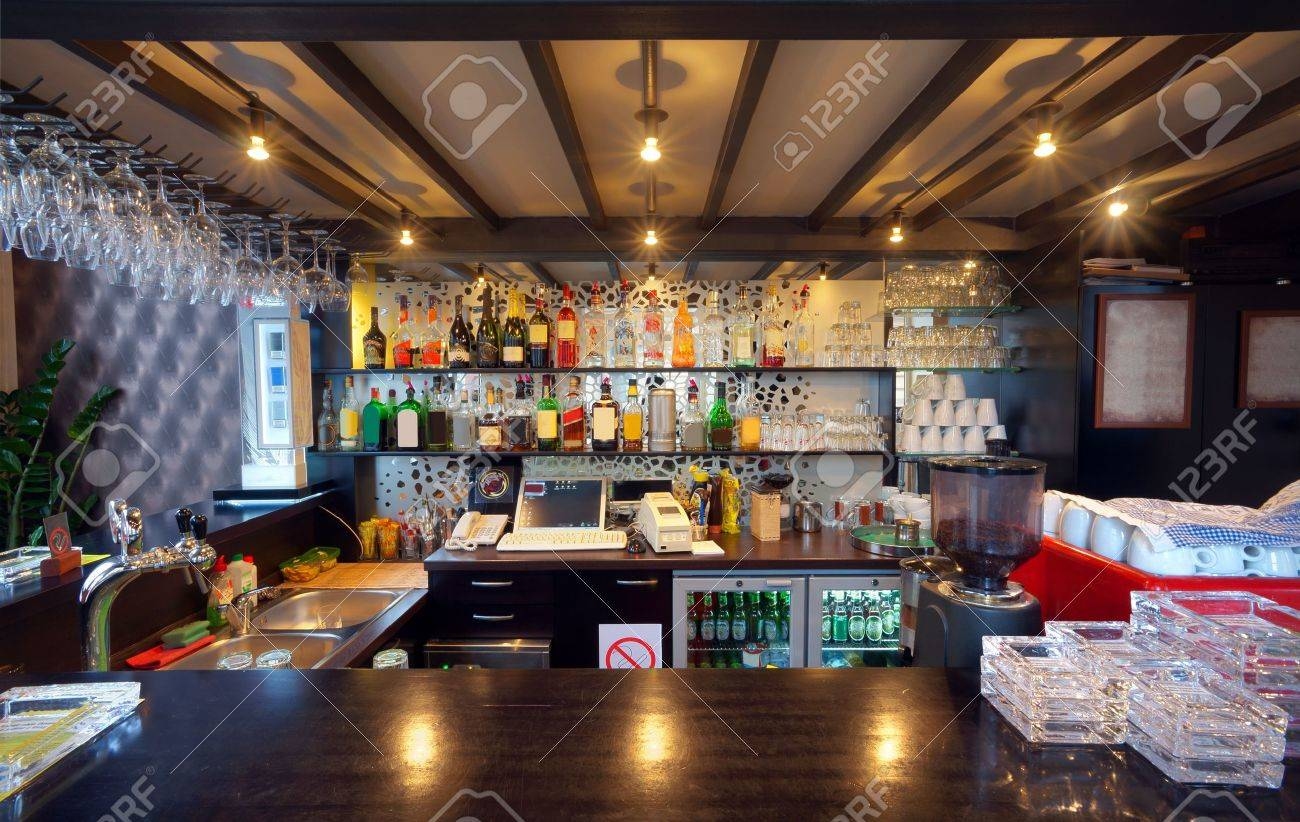 View of the bar in a pub. Stock Photo - 9009653