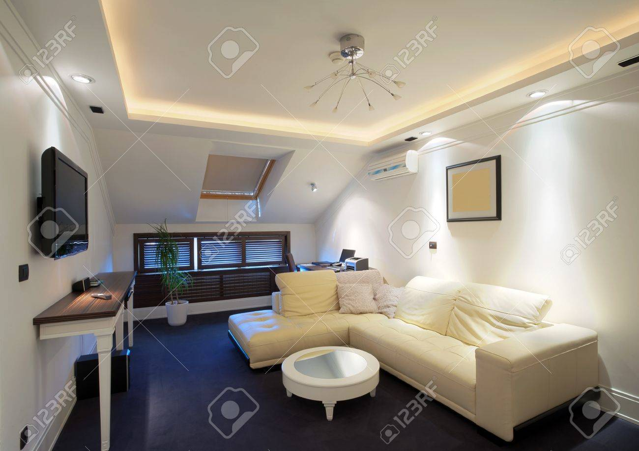 Interior of a hotel apartment with furniture, modern contemporary design. Stock Photo - 10380905