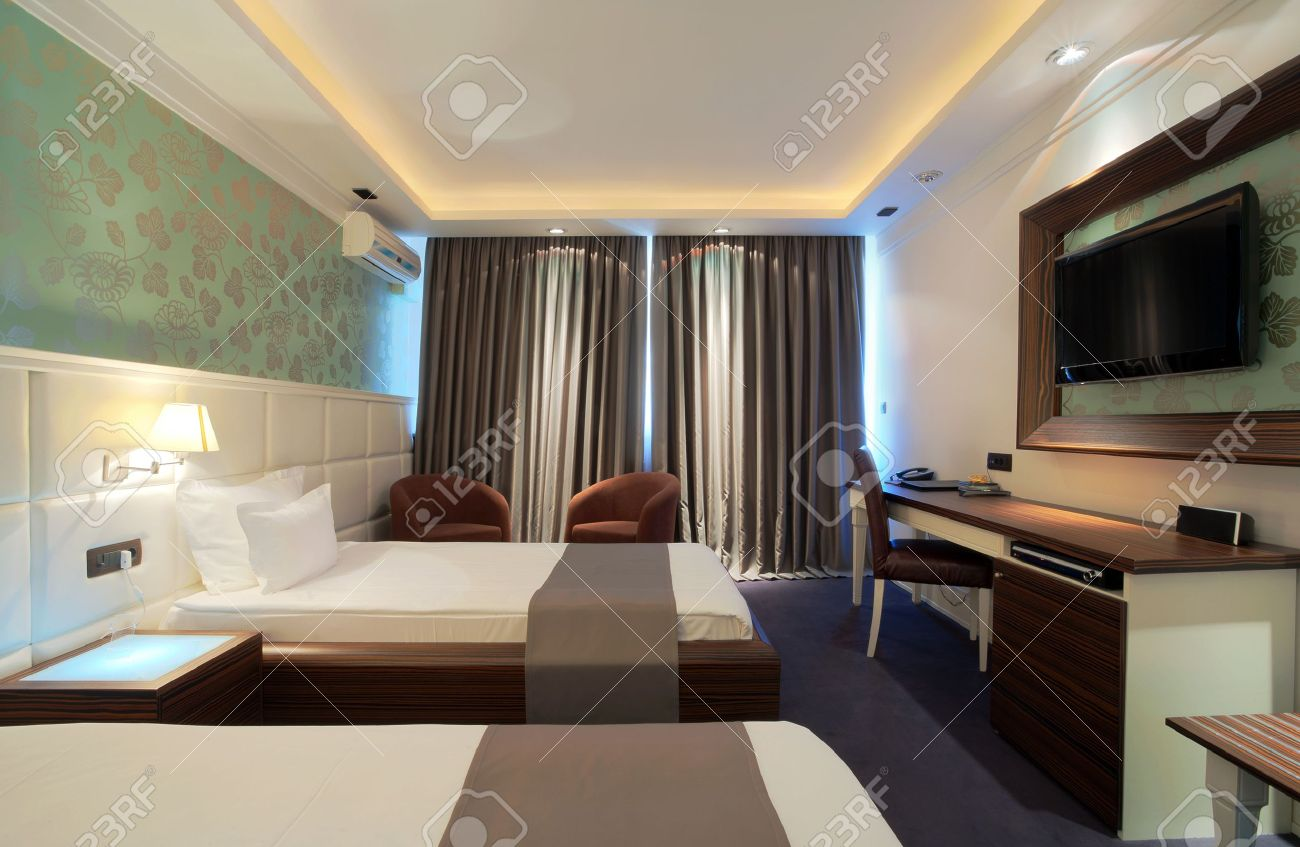 Interior of a hotel room with furniture modern contemporary