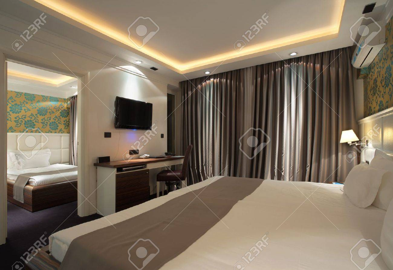 Interior of a hotel apartment with furniture, modern contemporary design. Stock Photo - 10508380