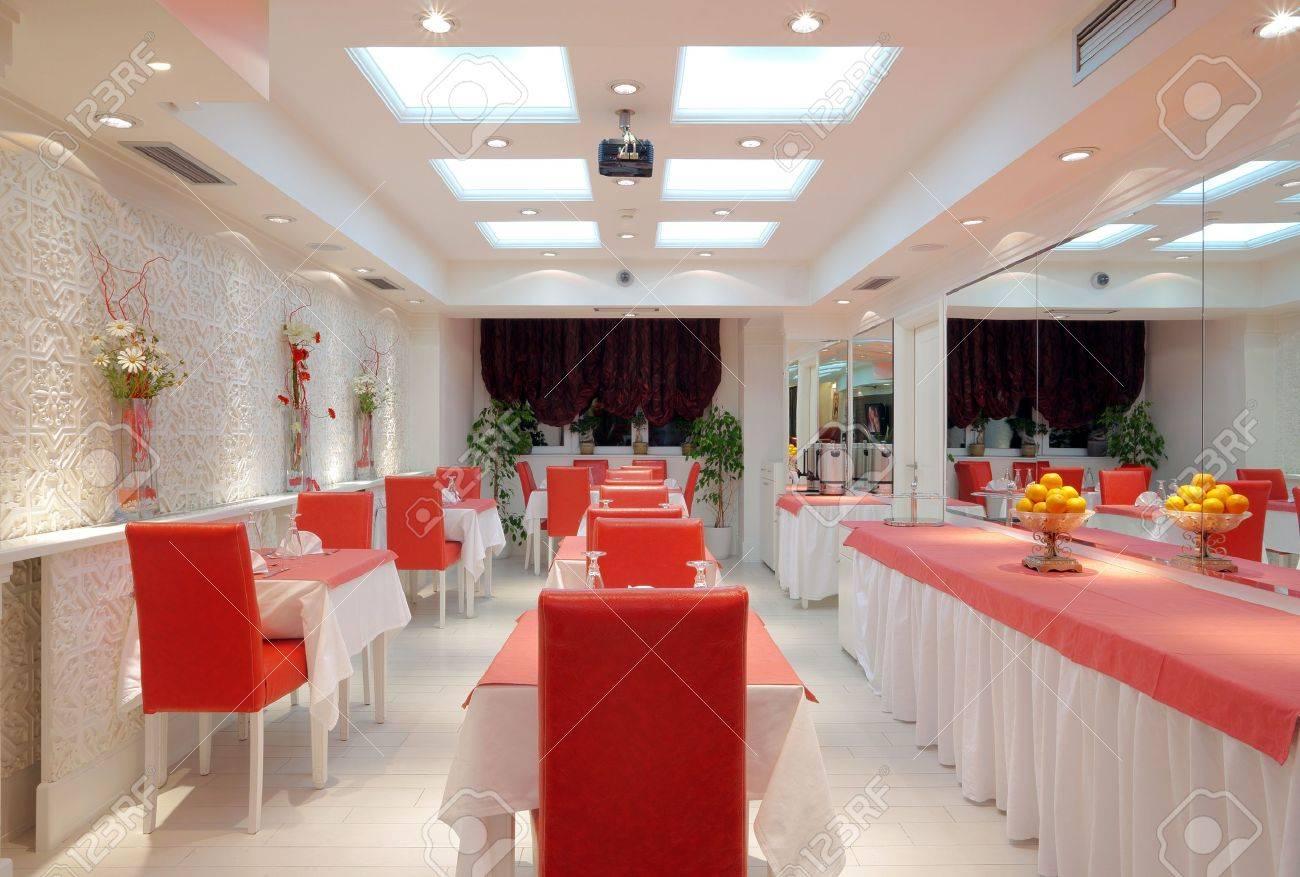 Intérieur D\'un Restaurant, Un Design Moderne. Banque D\'Images Et ...