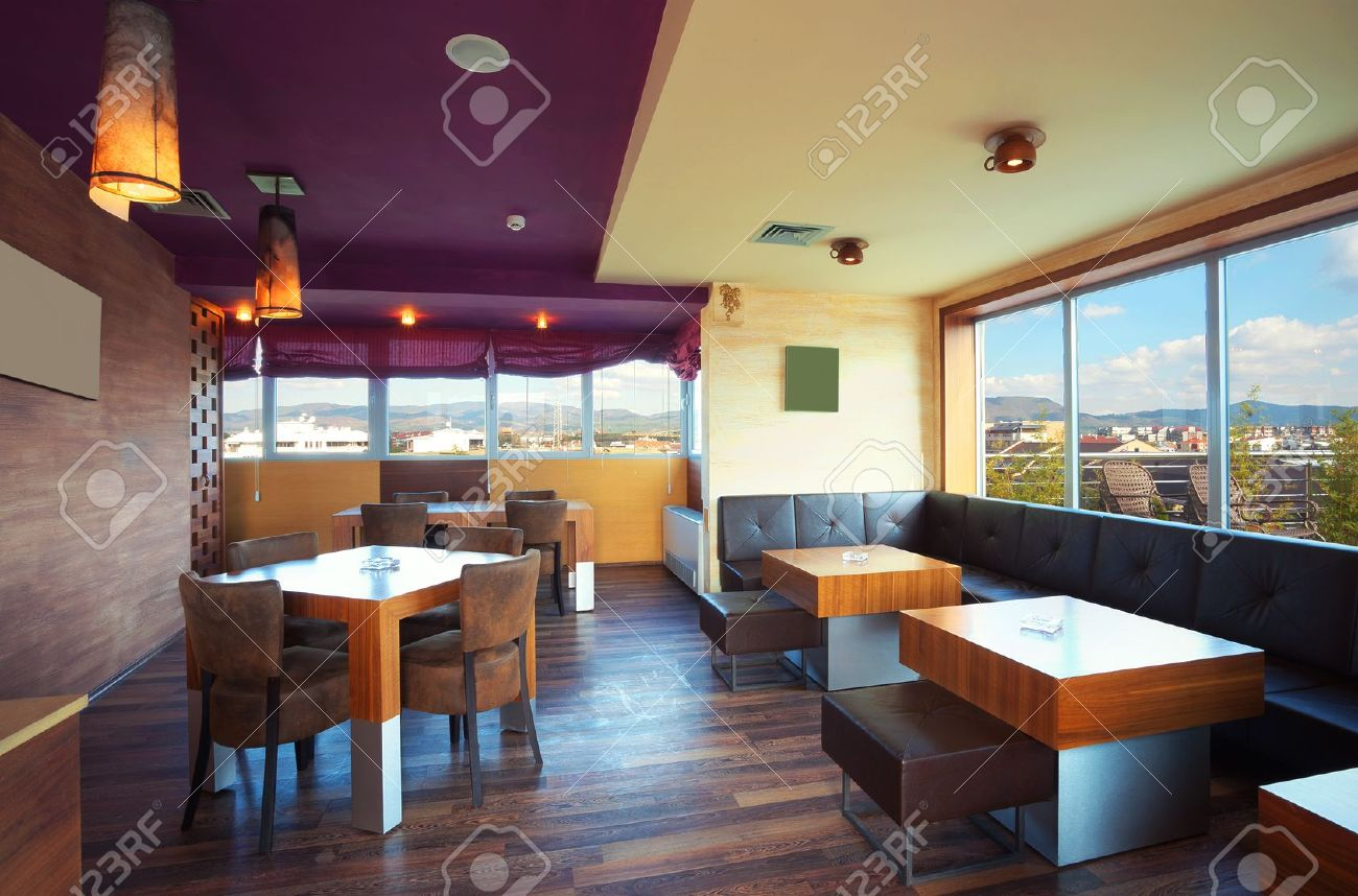 Cafe Interior During Day Modern And Simple Decoration Stock Photo Picture And Royalty Free Image Image 11184138