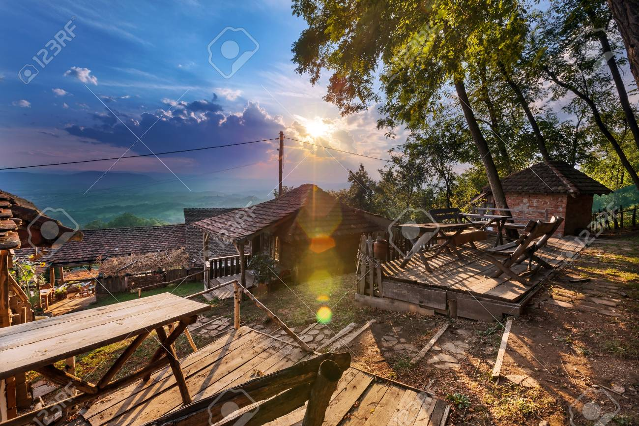 Old Serbian household, traditional vintage look. Stock Photo - 22020420