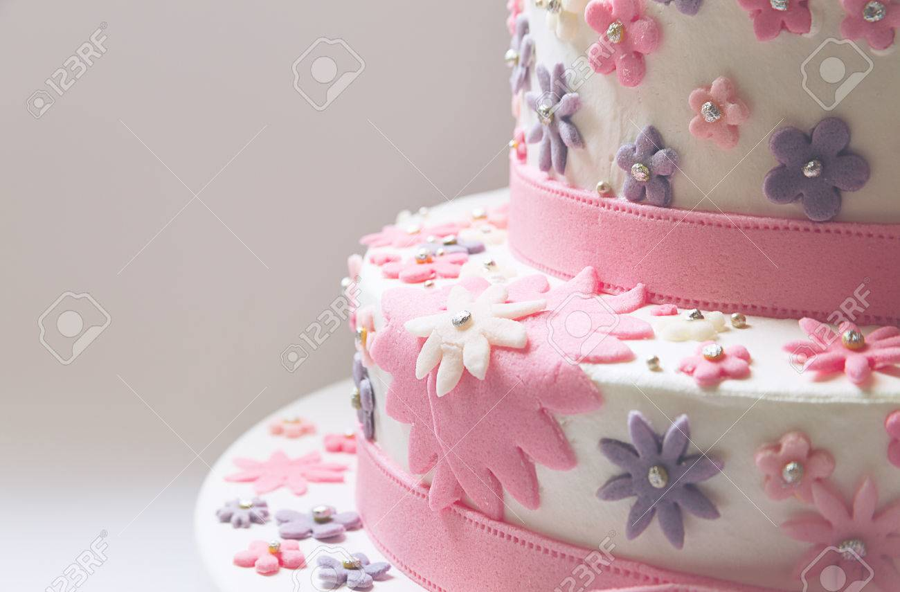 Phenomenal Details Of A Birthday Cake Decorative Stars In Pink Made Of Funny Birthday Cards Online Inifodamsfinfo