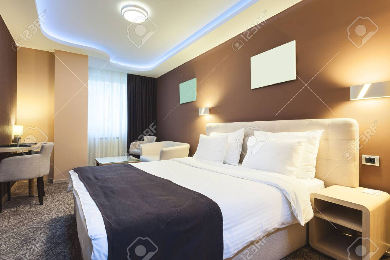 intrieur dune chambre dhtel pour deux personnes design de luxe moderne