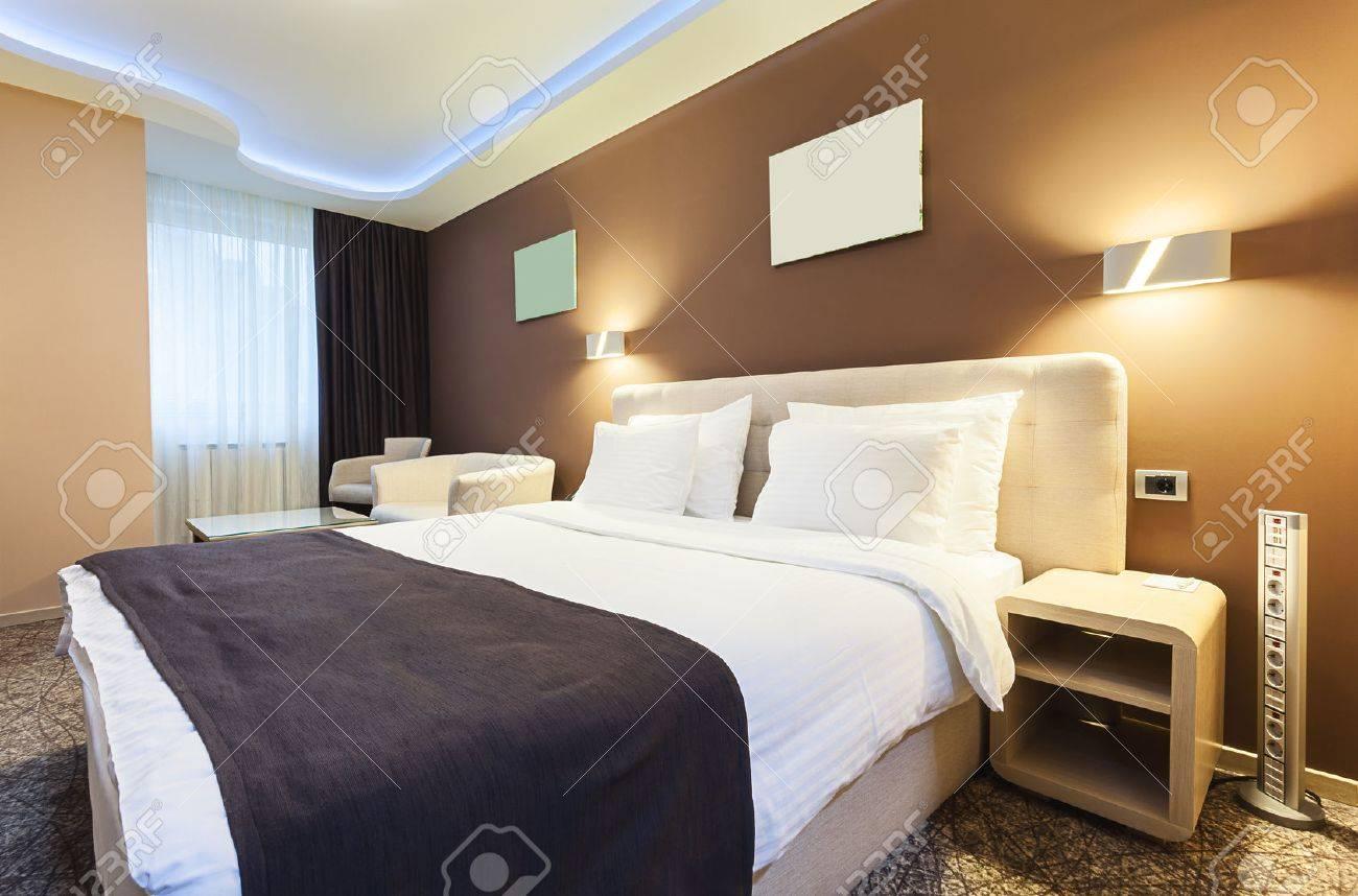 Intérieur D\'une Chambre D\'hôtel Pour Deux Personnes. Design De Luxe ...
