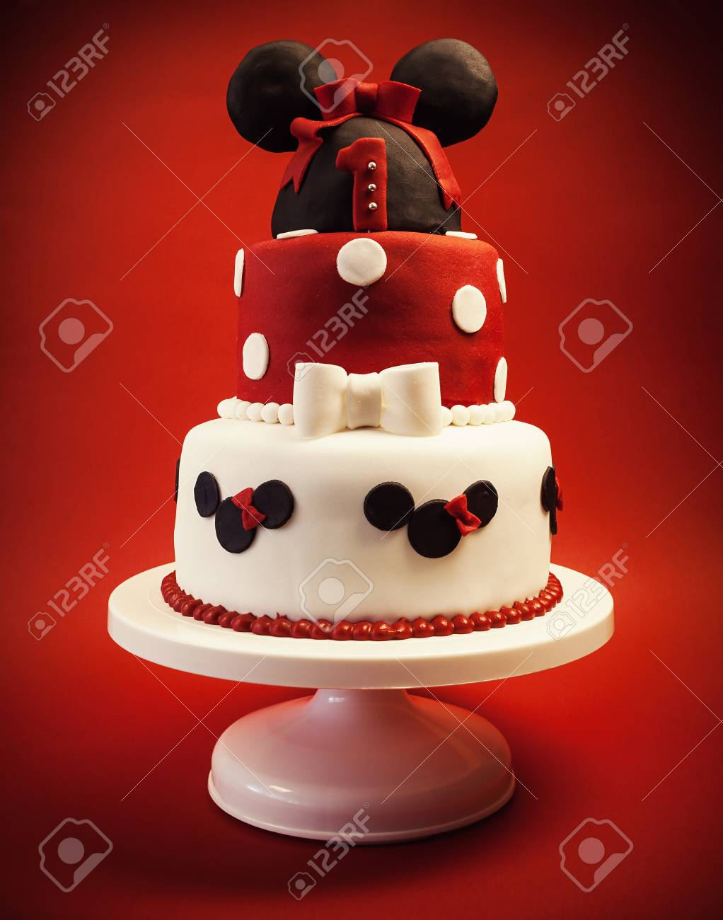 Astounding Birthday Cake For Baby Girl On Red Background Details And Design Funny Birthday Cards Online Sheoxdamsfinfo