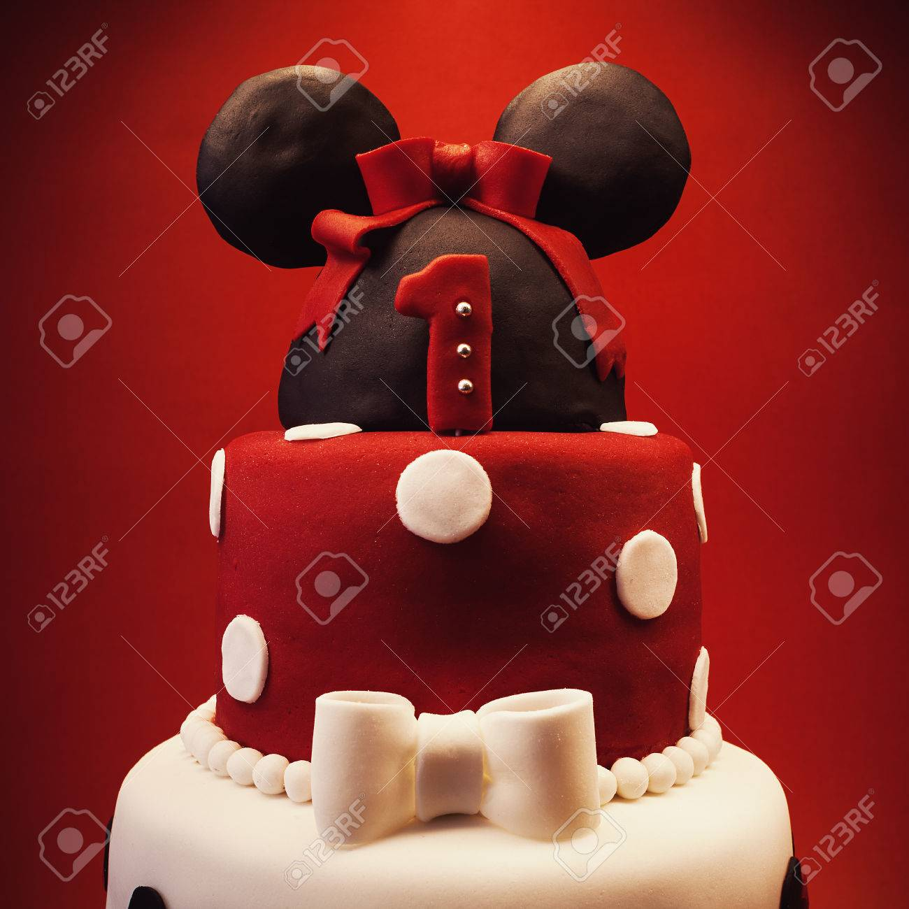 Astonishing Birthday Cake For Baby Girl On Red Background Details And Design Funny Birthday Cards Online Inifodamsfinfo