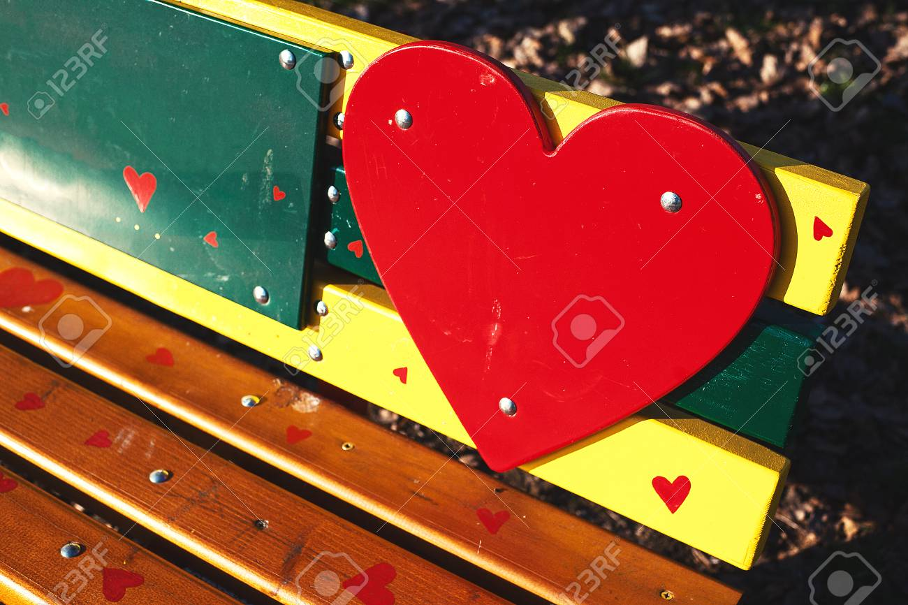 Remarkable Colorful Park Bench Decorated With Wooden Parts Painted In Vivid Caraccident5 Cool Chair Designs And Ideas Caraccident5Info