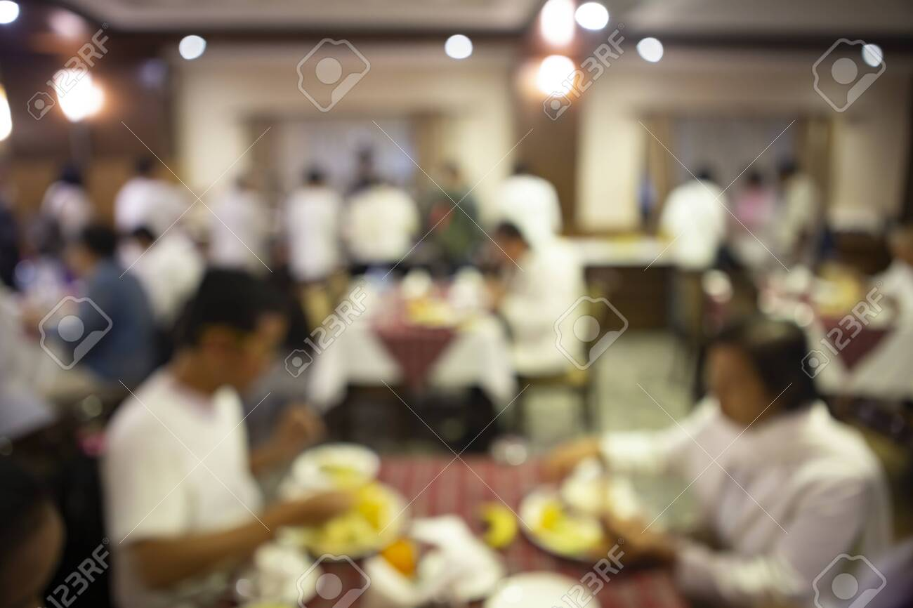Abstract blurred in restaurant and coffee shop. - 141837399