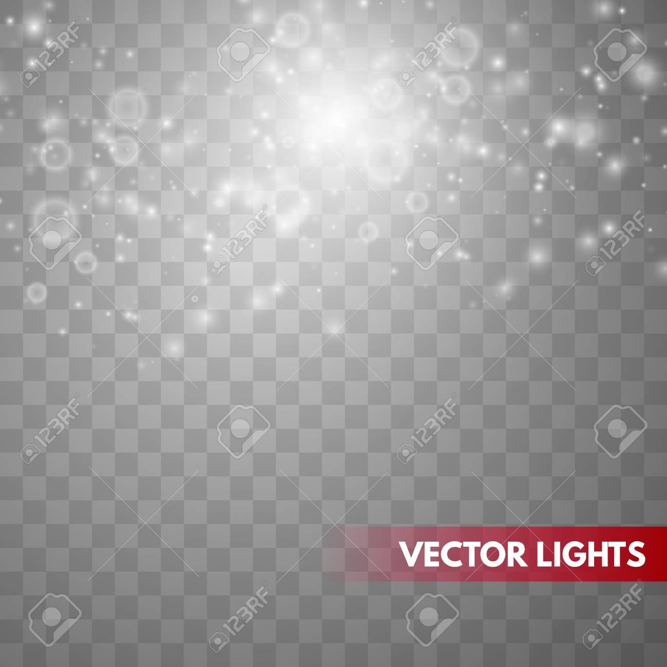 Glow light effect. Sparkle dust. Christmas flash. Vector illustration - 121025913