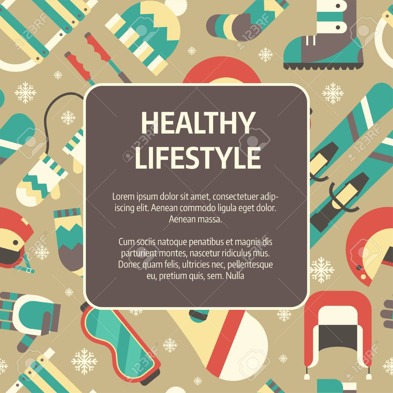 Winter healthy lifestyle concept background winter activity winter healthy lifestyle concept background winter activity flat vector icons in circle form sports falaconquin