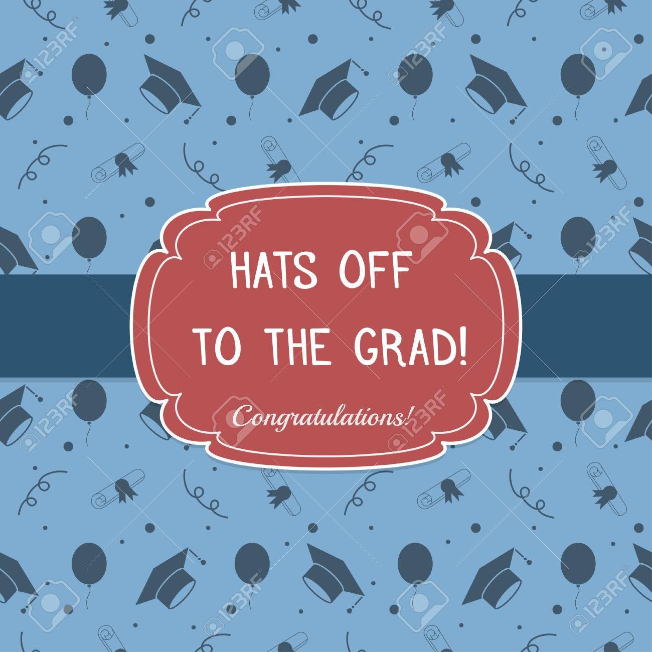 Vector Illustration Of Colorful Graduation Invitation Or Certificate ...
