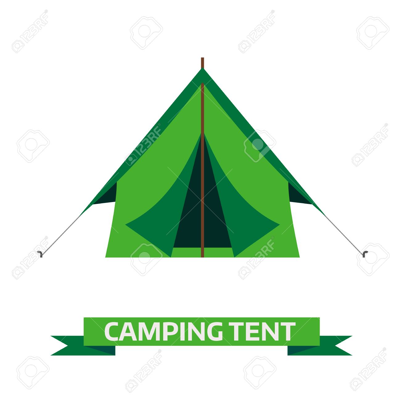 C&ing tent vector icon. Triangle flat design tent. Tourist hiking equipment isolated on white  sc 1 st  123RF.com & Camping Tent Vector Icon. Triangle Flat Design Tent. Tourist ...